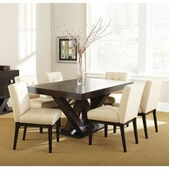 Buy Steve Silver 7 Piece 64x40 Rectangular Tiffany Dining Room Set in Espresso on sale online