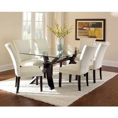 Buy Steve Silver 7 Piece 72x42 Rectangular Berkley Dining Room Set in Espresso on sale online