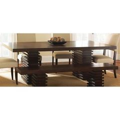 Buy Steve Silver 78x42 Rectangular Briana Table Top w/ Leaf in Espresso on sale online