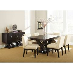 Buy Steve Silver 8 Piece 64x40 Rectangular Tiffany Dining Room Set w/ Server in Espresso on sale online