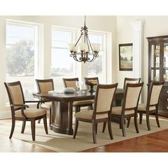 Buy 9 Piece 96x44 Rectangular Heather Dining Room Set in Cherry on sale online