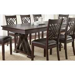 Buy Steve Silver Adrian 78x42 Rectangular Dining Table in Espresso Cherry on sale online
