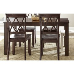 Buy Steve Silver Aida 70x42 Rectangular Dining Table in Brown on sale online