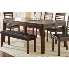 Buy Steve Silver Allison 60x42 Rectangular Dining Table in Warm Espresso on sale online