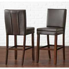Buy Steve Silver Bennett 24 Inch Bonded Leather Counter Chair in Brown on sale online