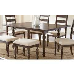 Buy Steve Silver Bexley 69x30 Rectangular Dining Table in Warm Espresso on sale online
