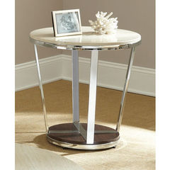 Buy Steve Silver Bosco 24 Inch Round Faux Marble End Table on sale online