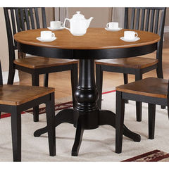 Buy Steve Silver Candice 42 Inch Round Dining Table in Oak and Black on sale online