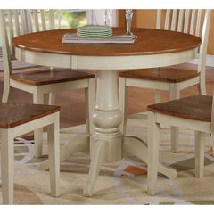 Buy Steve Silver Candice 42x42 Round Dining Table in Oak and White on sale online