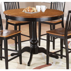Buy Steve Silver Candice 48 Inch Round Counter Height Table in Oak and Black on sale online