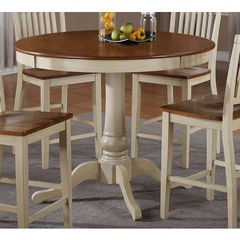 Buy Steve Silver Candice 48x48 Round Counter Height Table in Oak and White on sale online