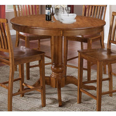 Buy Steve Silver Candice 48x48 Round Counter Height Table in Oak on sale online