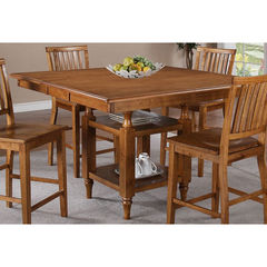 Buy Steve Silver Candice 54x42 Counter Height Table in Oak w/ 12 Inch Butterfly Leaf on sale online