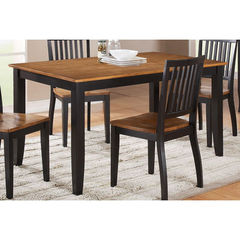 Buy Steve Silver Candice 60x36 Dining Table in Oak and Black on sale online