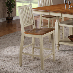 Buy Steve Silver Candice Counter Height Chair in Oak and White on sale online