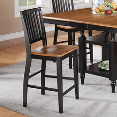 Buy Candice Counter Height Stool in Oak and Black on sale online