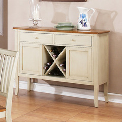 Buy Steve Silver Candice 48x17 Server in Oak and White on sale online