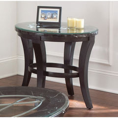Buy Steve Silver Cayman 28x24 End Table w/ 8mm Tempered Glass on sale online