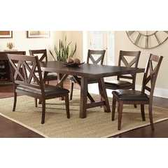 Buy Steve Silver Clapton 6 Piece 72x42 Rectangular Dining Room Set on sale online