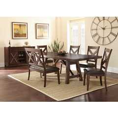 Buy Steve Silver Clapton 7 Piece 72x42 Rectangular Dining Room Set on sale online
