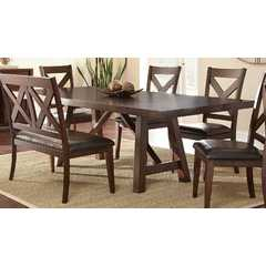 Buy Steve Silver Clapton 96x42 Rectangular Dining Table in Warm Distressed Espresso on sale online