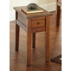 Buy Steve Silver Desoto 28x13 Chairside End Table in Oak on sale online