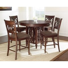 Buy Steve Silver Dolly 5 Piece 48x48 Round Counter Height Set on sale online