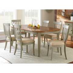 Buy Steve Silver Dublin 7 Piece 78x42 Oval Dining Room Set in Cherry on sale online