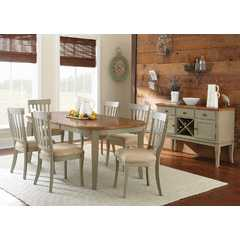 Buy Steve Silver Dublin 8 Piece 78x42 Oval Dining Room Set in Cherry on sale online