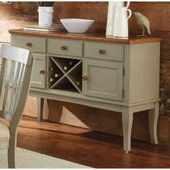 Buy Steve Silver Dublin Transitional Server w/ 3 Drawers in Cherry on sale online