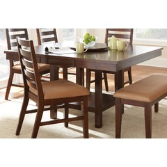 Buy Steve Silver Eden 52x52 Square Dining Table in Dark Cherry on sale online