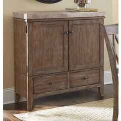 Buy Steve Silver Franco Rustic Server w/ Marble Top and 2 Drawers on sale online