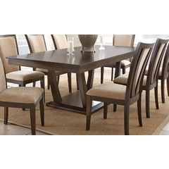 Buy Steve Silver Gabrielle 96x44 Rectangular Dining Table w/ 2 Leaves on sale online