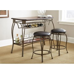 Buy Steve Silver Greensboro 3 Piece 48x21 Rectangular Bar Table Set on sale online