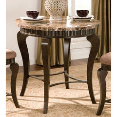Buy Steve Silver Hamlyn 36 Inch Round Marble Top Counter Height Table on sale online