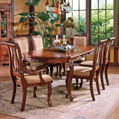 Buy Steve Silver Harmony 7 Piece 66x42 Dining Room Set in Cherry on sale online