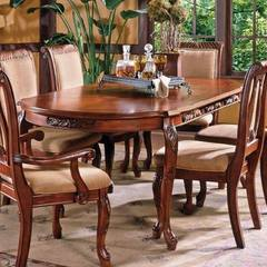 Buy Steve Silver Harmony Traditional 66x42 Oval Dining Table in Cherry on sale online