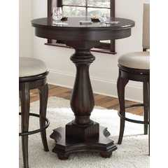 Buy Steve Silver Leona 33x33 Round Bar Table in Deep Charcoal on sale online
