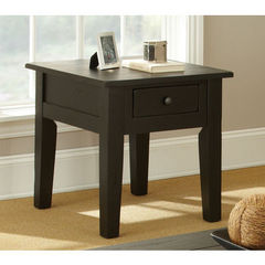 Buy Steve Silver Liberty 27x23 End Table in Antique Black on sale online
