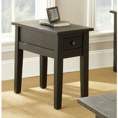 Buy Steve Silver Liberty 28x13 Chairside End Table in Antique Black on sale online