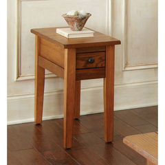 Buy Steve Silver Liberty 28x13 Chairside End Table in Oak on sale online