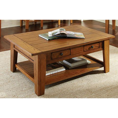 Buy Steve Silver Liberty 50x32 Cocktail Table in Oak on sale online