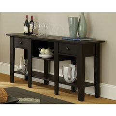 Buy Steve Silver Liberty 58x16 Sofa Table in Antique Black on sale online