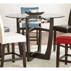 Buy Steve Silver Matinee 48x48 Round Counter Height Table w/ Glass Top on sale online