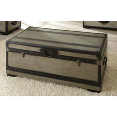Buy Steve Silver Rowan 44x24 Cocktail Table w/ Storage Trunk on sale online