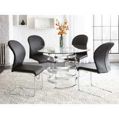 Buy Steve Silver Tayside 5 Piece 45 Inch Dining Room Set w/ Tempered Glass on sale online