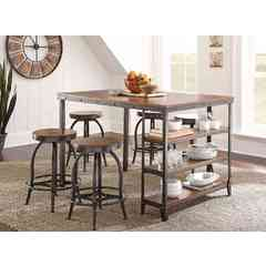 Buy Steve Silver Winston 5 Piece 58x39 Rectangular Counter Height Set on sale online
