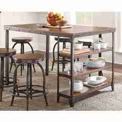 Buy Steve Silver Winston 58x39 Rectangular Counter Height Table on sale online