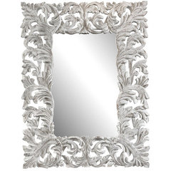 Buy Cooper Classics Stockton 47x35 Mirror in Aged White on sale online