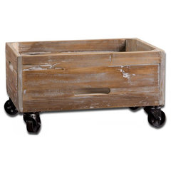 Buy Uttermost Stratford Reclaimed Wood Rolling Box on sale online